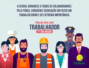 01 de Maio - Dia do trabalhador